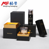 Double black card board cosmetic box wear-resisting rubber