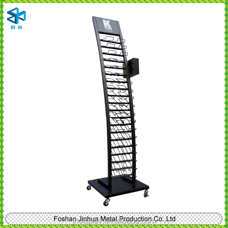 Customized Wire Racks Plastic Coated Of Post Card Display Stand Office File Stands Shelf