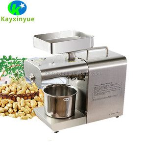 capacity 4-6kg/h raw materials automatic small screw cold oil press machine uk