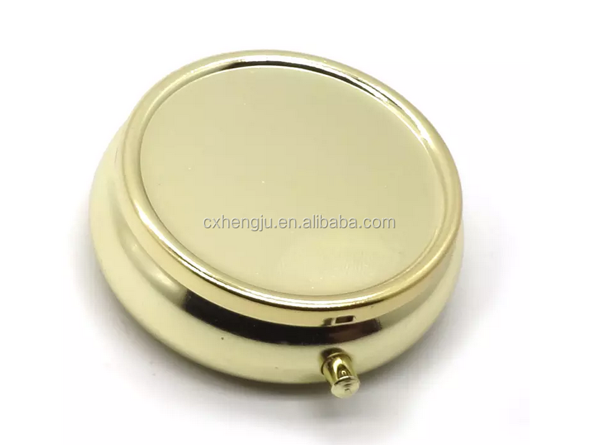 metal pill box mini pill case with cutter in stock portable round pill box gold  sc 1 st  Alibaba & Metal Pill Box Mini Pill Case With Cutter In Stock Portable Round ... Aboutintivar.Com