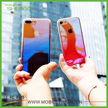 Top Quality Cool Phone Case Cover Gradient Color Optical Plating Ultra Thin Plastic Custom Phone Cases for iPhone 7