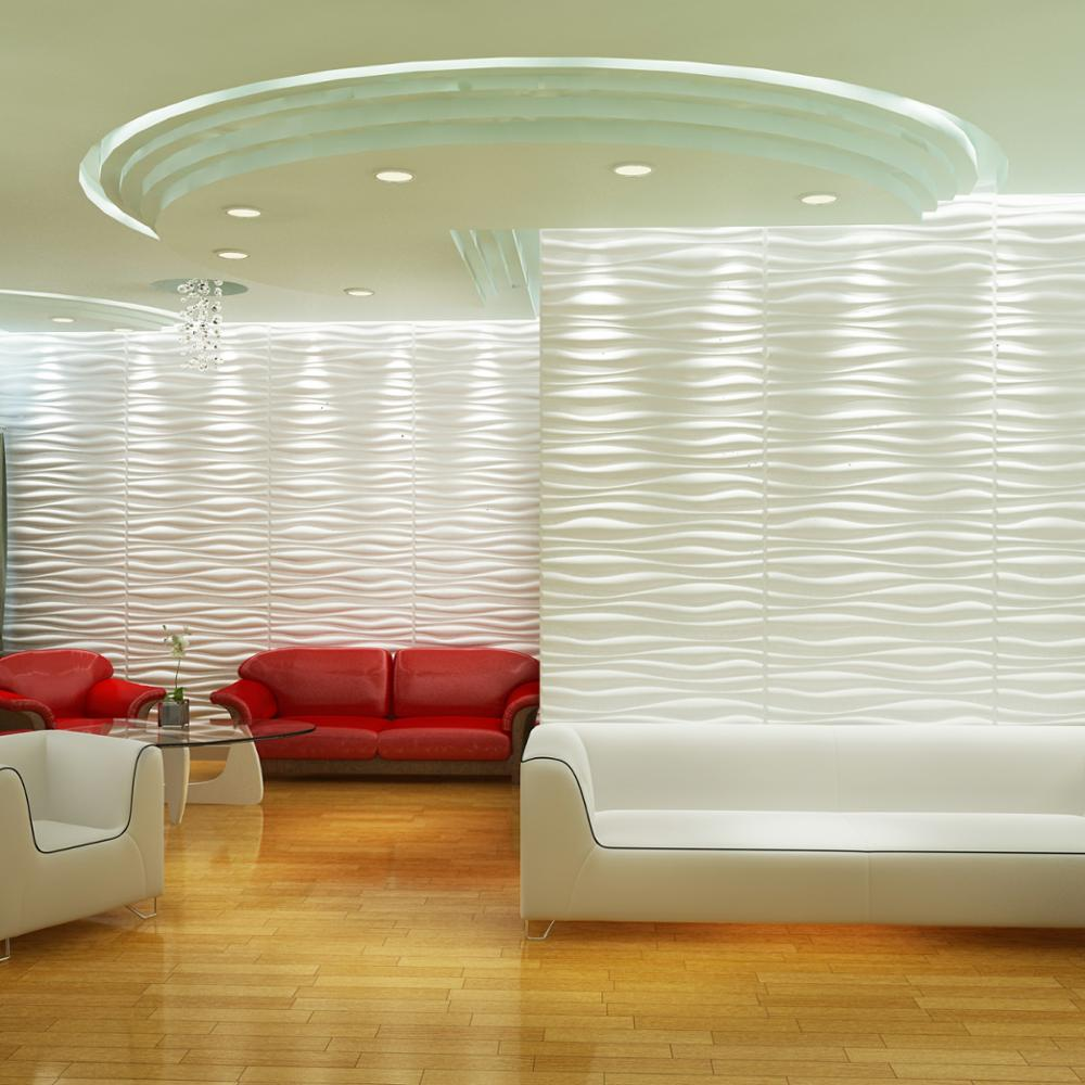 white colors 4x8 wall paneling textured wave board 3d pvc wall coating for homr