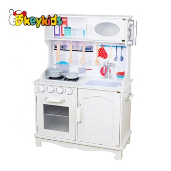 2019 Top sale white kids wooden play kitchen set for wholesale W10C409B,  View play kitchen set, okeykids Product Details from Wenzhou Times ...