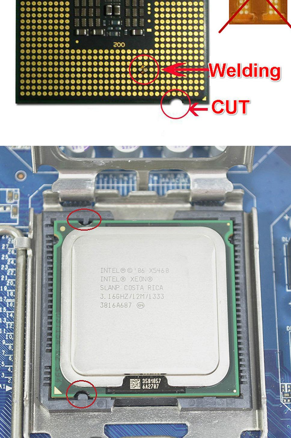 معالج Intel Xeon X5460 3 16ghz 12M 1333mhz ، يعمل على اللوحة الأم LGA775  كصورة