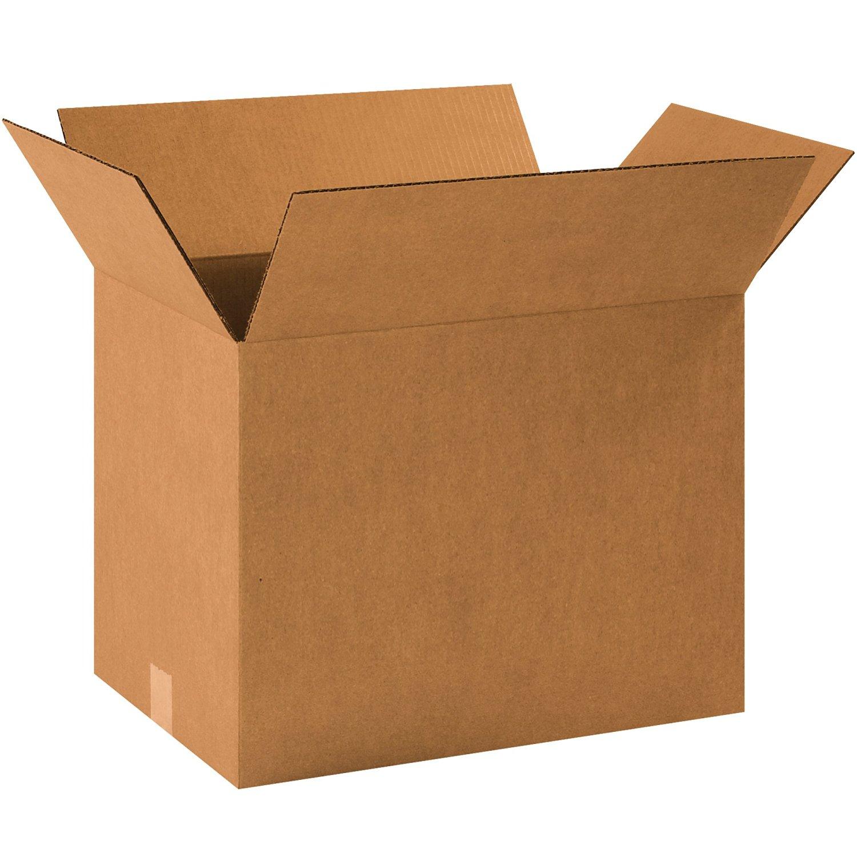 "Aviditi 181214 Corrugated Box, 18-1/2"" Length x 12-1/2"" Width x 14"" Height, Kraft (Bundle of 20)"