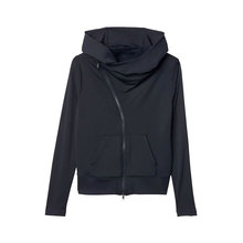 Fashion street zipper hood sweatshirt female