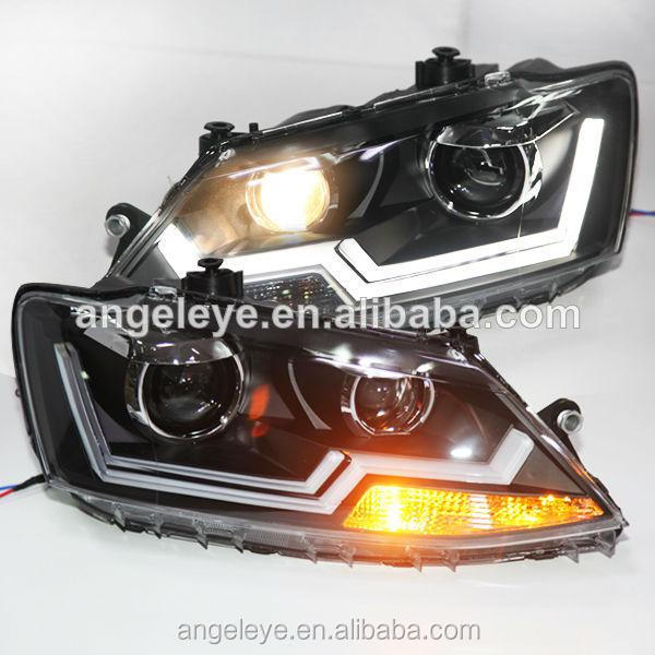 2011-2014 year VW New Jetta MK6 LED Strip Headlight Bi Xenon Projector Lens LDV2