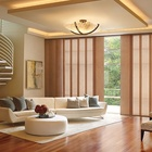Haoyan products panel blinds part 4 way track with custom made blackout fabric