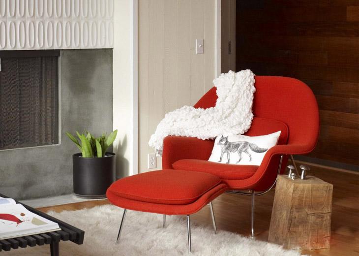 Replica Eero Saarinen Womb Lounge Chair And Ottoman