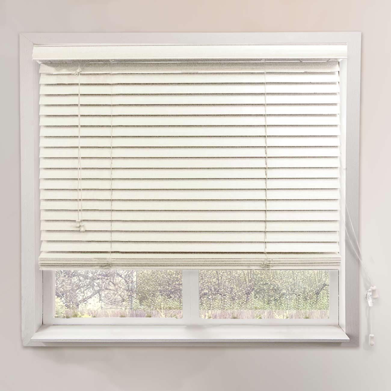 "Chicology Faux Wood Blind 2"" Slats Clean and Sleek Horizontal Venetian, 23"" x 64"", Simply White"