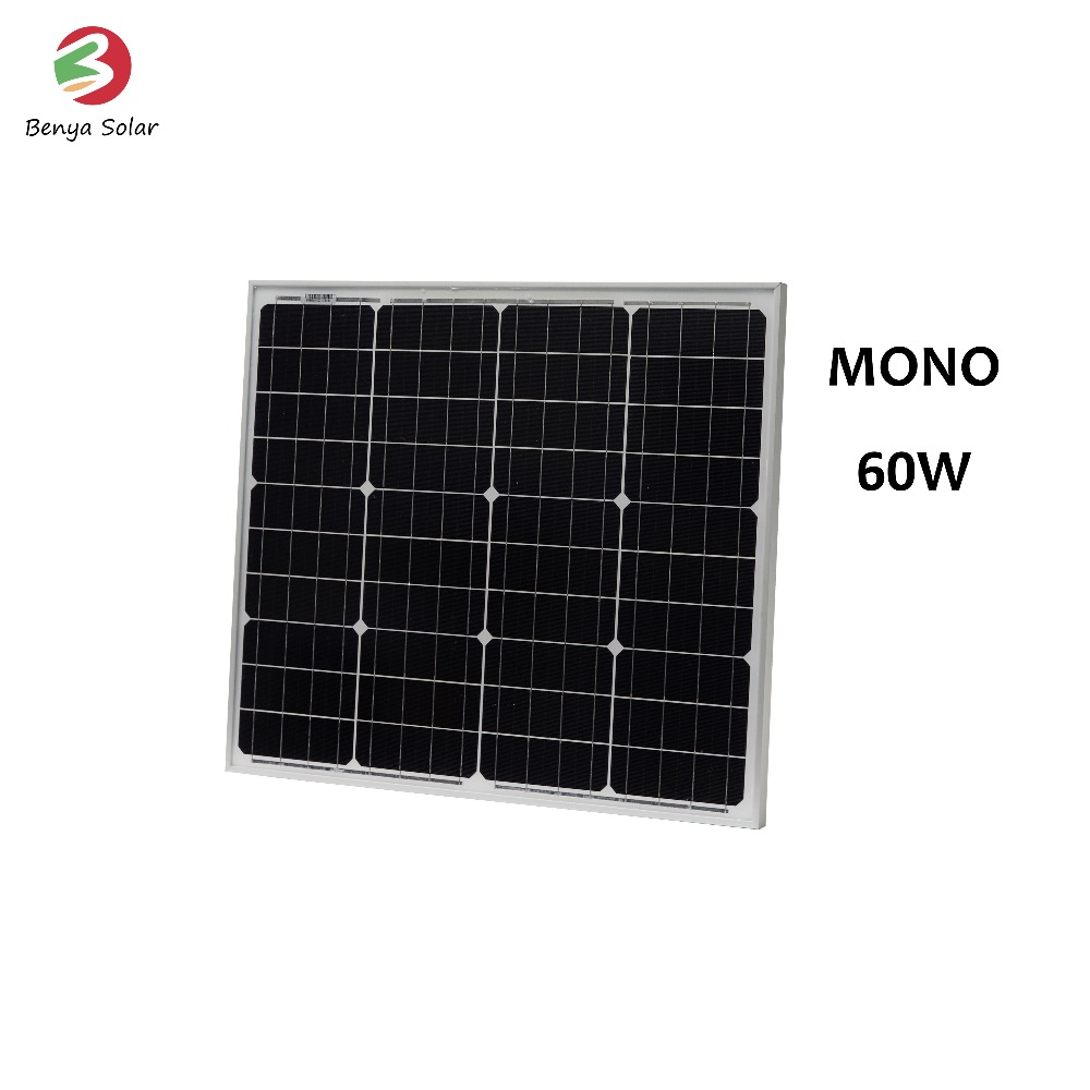 High power efficiency mono 60 watt solar panel cells