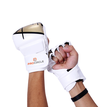 White  High Quality Mma  Grappling Gloves Mma Washable Boxing Gloves