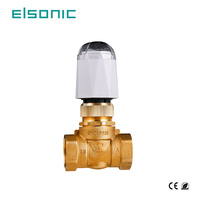 water underfloor heating systems hotel central manifold Electric thermal wax actuator