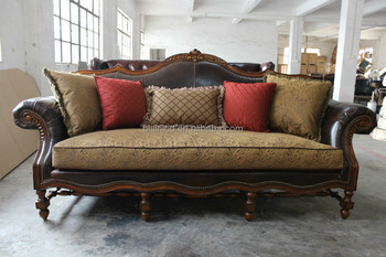 Arab Style Leather And Fabric Sofa Set,Antique Sofa Set For Living Room  Furniture (bf01-0166) - Buy Full Leather Fabric Living Room Sofa Set,Arab  ...