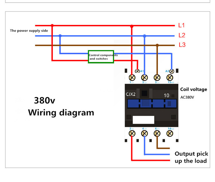 standard contactor wiring diagram cjx2 1210 ac contactor 220v coil series lc1d 36v with iec standard  cjx2 1210 ac contactor 220v coil series