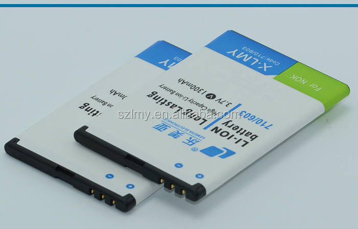 ShenZhen wholesale li-ion battery 1500mah 3.7v 4.2v gb/t 18287-2000 cell phone battery BP-3L for nokia