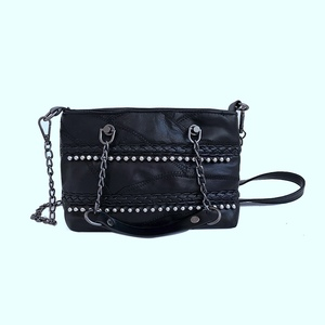 custom women PU leather cross body bags shoulder chain side bag for college