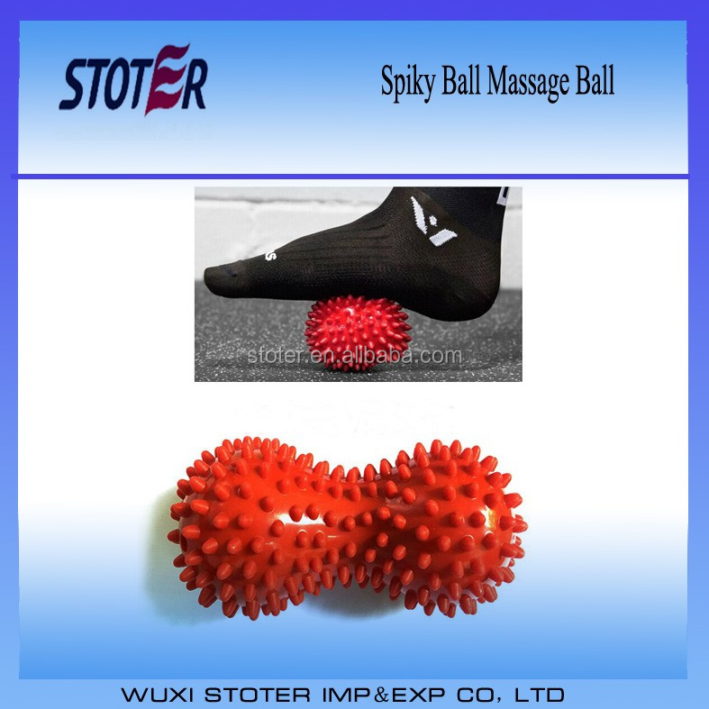 Muscle Relief PVC Spiky Peanut Massage Ball Double spiky ball