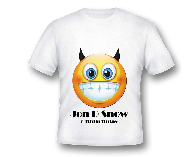 Personalized Emoji Birthday T-Shirt, Emoji tee shirt, Emoji Tee Shirt, Printed Emoji Shirt, White Emoji TShirt, Birthday Shirt, Emoji Custom Shirt, Custom Shirt