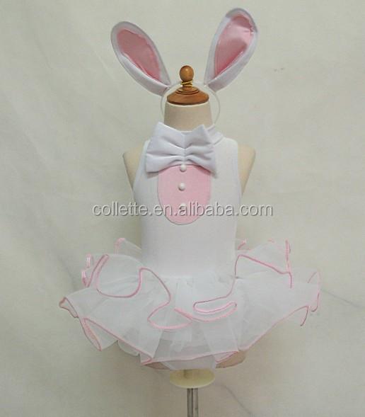 9a23216425d3 MB3069 -- Cute child velvet child leotard white rabbit tutu dress ...