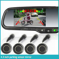 2014 newest electric rearview camera mirror with parking sensor assist /compass/temperature for ford ranger 2012