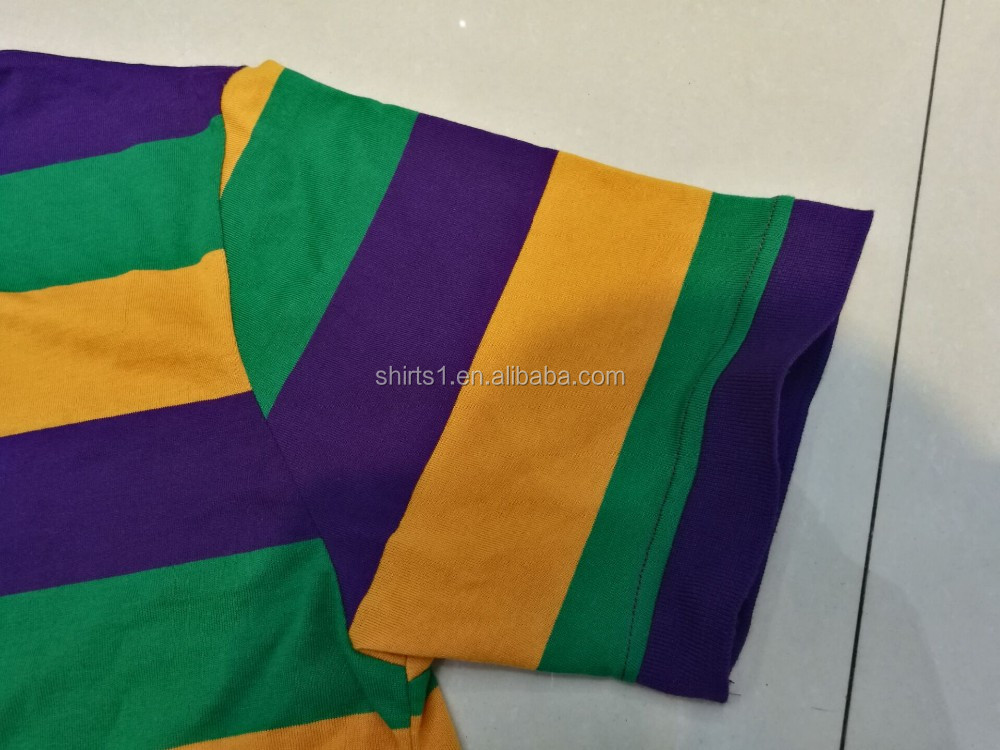 stock stock mardi gras stripe polo shirts factory