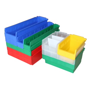 Clearview industrial plastic picking bins storage trays with dividers