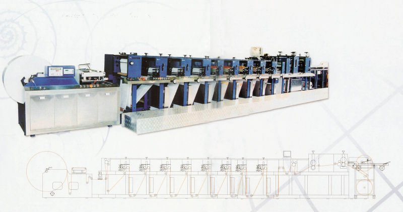 Narrow Web Flexographic Printing Press
