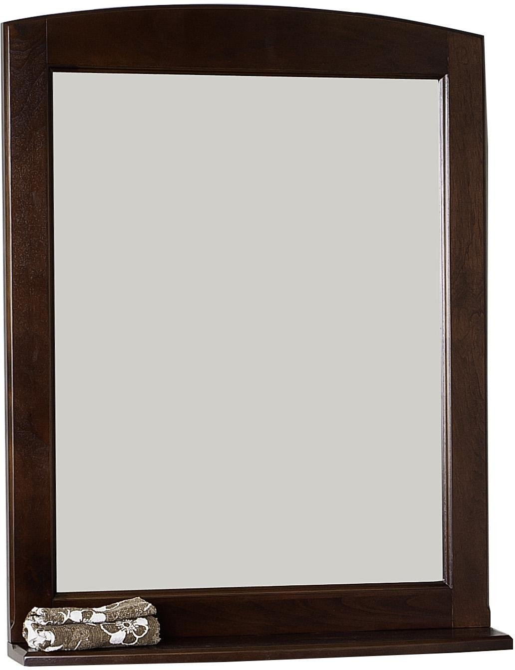 American Imaginations AI-107-71 Traditional Birch Wood-Veneer Wood Mirror, 24-Inch x 32-Inch, Walnut Finish