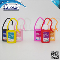 Antibacterial hand sanitizer with neoprene sleeve spray