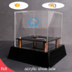 custom square plexiglass case display portable square black clear acrylic shoe boxes with riser
