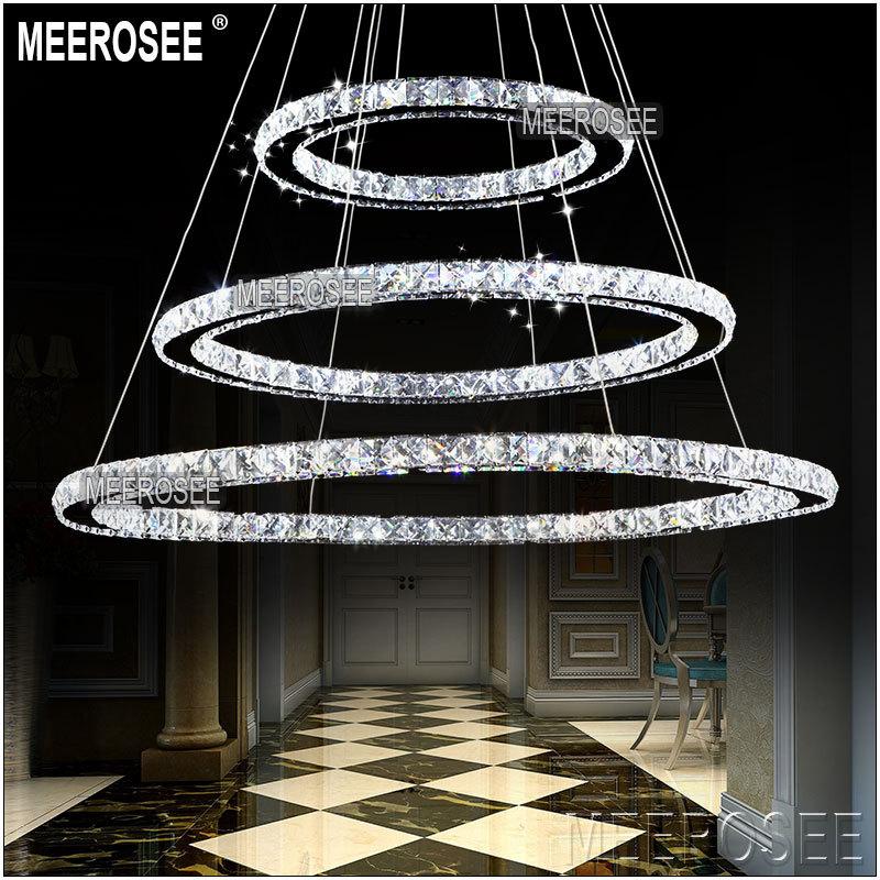 LED Kristallleuchter-licht Moderne LED Kreis Kronleuchter Lampe ...