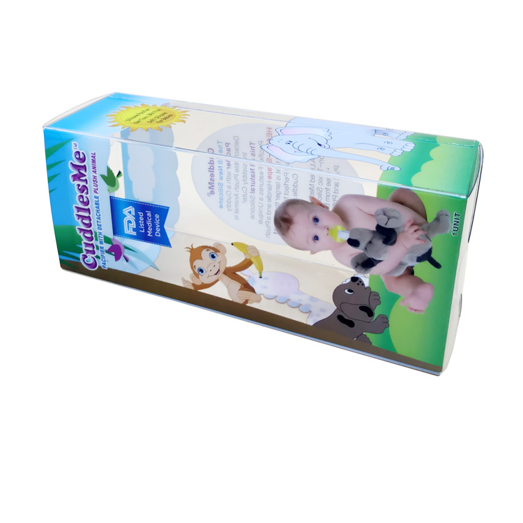 Newest transparent plastic packaging box clear plastic folding gift box