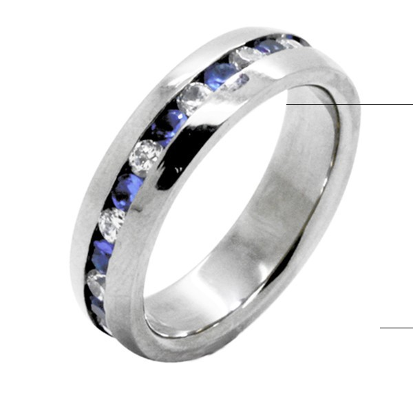 wholesale mens gemstone titanium ring