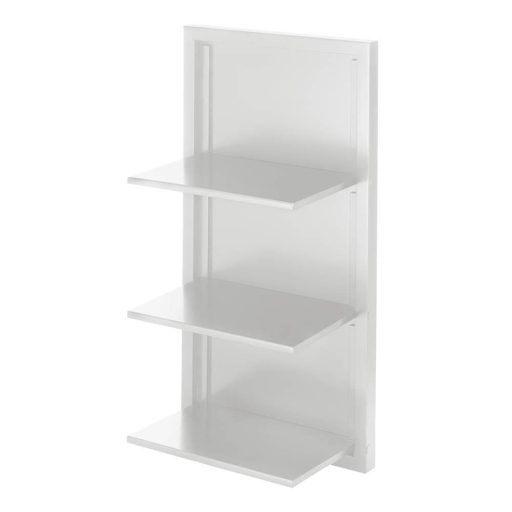 Get Quotations Corner Shelf White Decorative Wood Wall Storage Organizer