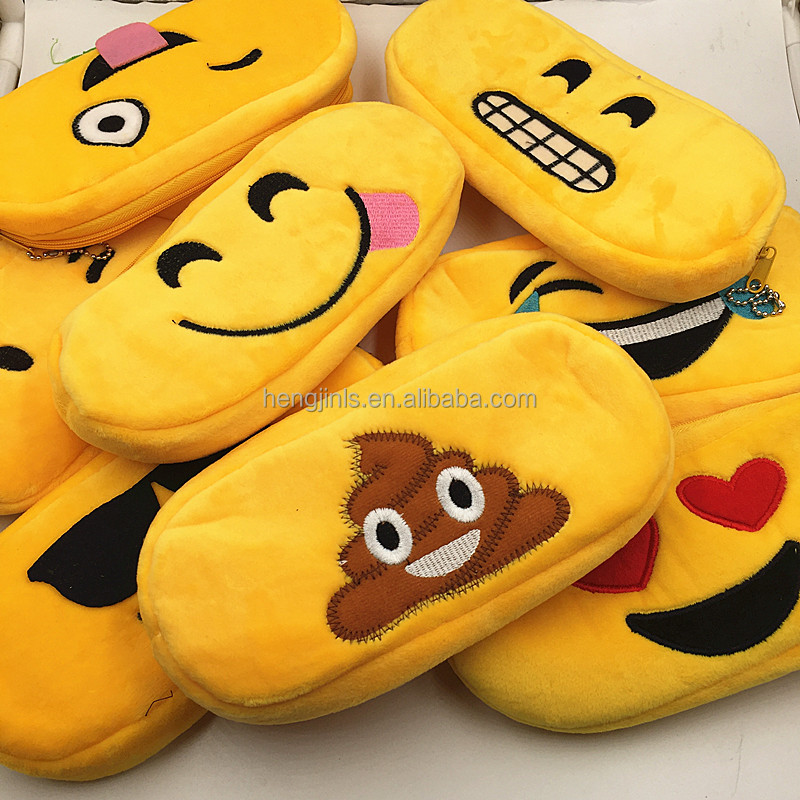 QQ Expression Cartoon Pencil Case Emoji School Supplies