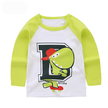 Last Design Cheap Kids Trendy Clothing Wholesale Cartoon Baby Lovely Long Sleeves T Shirt Baby Casual Shirts