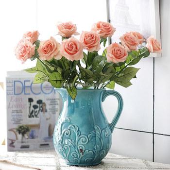 Fleur Vase Decoration Simulation Sentir Rose Fleurs Artificielles
