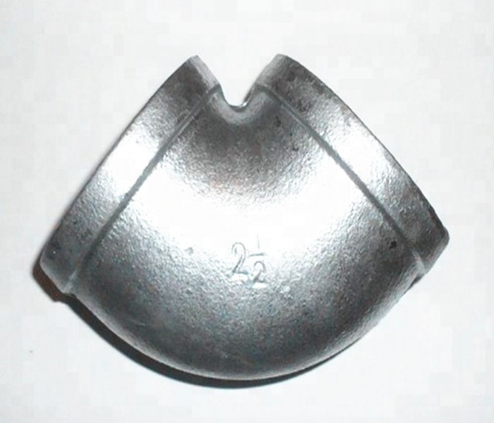 High quality <strong>Manufacturer</strong> 1.5&quot; plumbing 90 degree banded hot dipped galvanized malleable iron pipe fittings elbow DN40