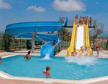 Family Water Slide Used In Swimming Pool