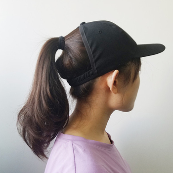 Adjustable Lady Cotton Sun Visor Ponytail Baseball Cap - Buy ... 4c658558317