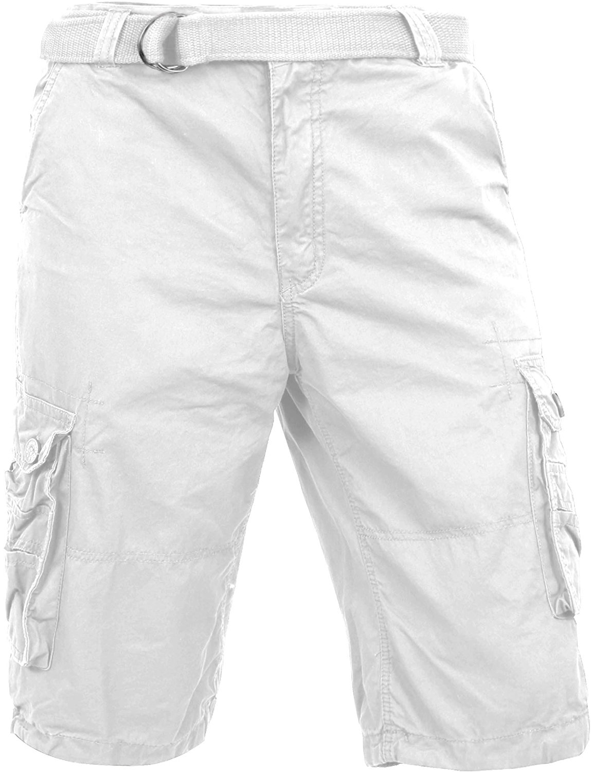 Ma Croix MX Mens Premium Cargo Shorts with Belt Outdoor Twill Cotton Loose Fit Multi Pocket Pants