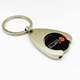 Metal shopping cart trolley enamel token coin logo keychain for promotion