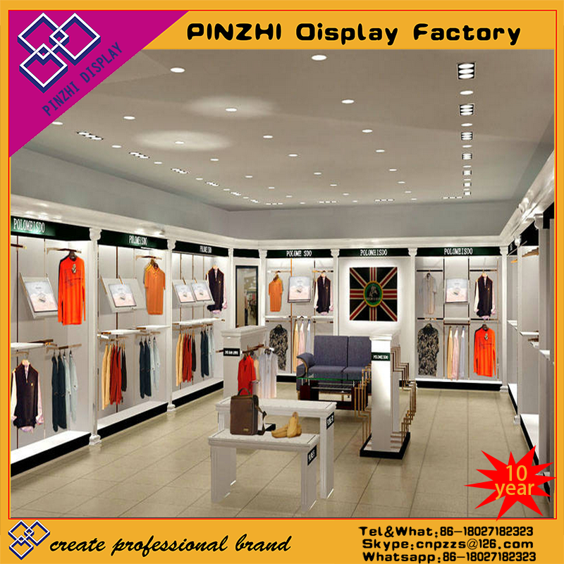 High quality customized exclusive shop furniture for garments displaying