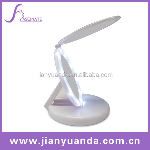 Stand Up Table Mirrors / Foldable Table Mirror / Table Top Lighted Vanity  Mirror / Folding