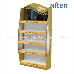 Custom beauty classic wooden cabinet cosmetic display stand
