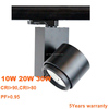 High lumen 2/3/4 wire track light head fixture for supermarket Lighting dimmable led track lighting fixtures