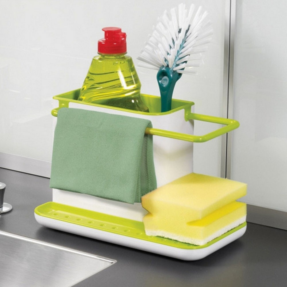 Holder Sponge Organizer Kitchen Multifunctional Plastic