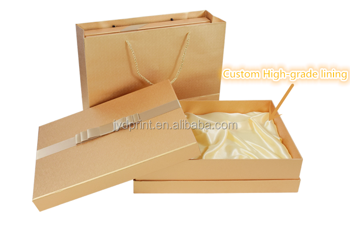 Unique Printed Rectangular Cardboard Boxes With Satin Silk