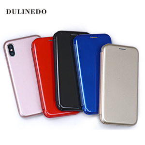 Full Cover Flip Magnetic UV Leather Wallet Case For Iphone X Leather Case